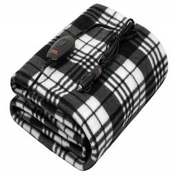 Sojoy 12V Heated Multi-use Travel Electric Blanket with High