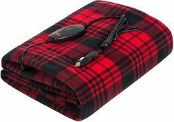 Sojoy 12V Heated Travel Electric Blanket Car Boat RV Hi/Low
