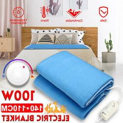 140x110CM Electric Heated Blanket Twin Warm Cozy Mattress Be