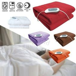 150X75 Twin Size Electric Heated Flannel Blanket Temperature