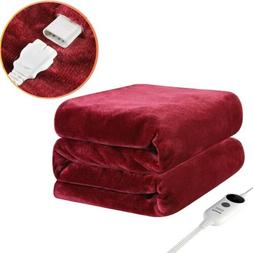 50x60In Electric Heated Plush Throw Blanket Fast Heating Pai