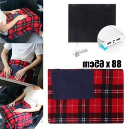 Car 5V USB  Electric Heating Blanket Bed Mat Pad Heated Warm
