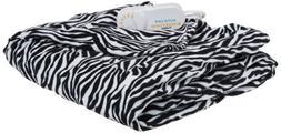 Biddeford Electric Heated Comfort Knit Throw, Zebra Print