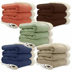 Pure Warmth Luxuriously Soft Micro Mink Sherpa Electric Heat