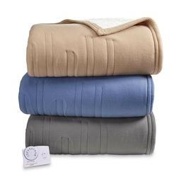 Biddeford Comfort Knit & Sherpa Electric Heated Blanket - Gr