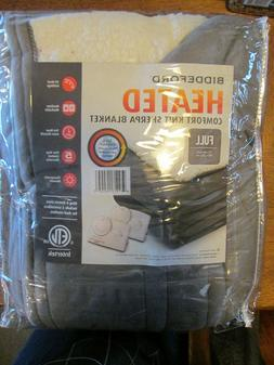 Biddeford Heated Comfort Knit Sherpa Electric Blanket Gray f