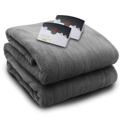 Biddeford Microplush Queen Electric Blanket, Grey