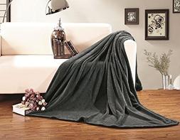 Blanket Elegant Comfort Micro-Fleece Ultra Plush Luxury Soli