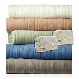 Biddeford Blankets Comfort Knit Heated Blanket, King, Cloud