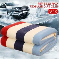Car Heating Blanket Winter Warmer Electric Heated Soft Mat Q