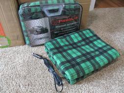 Stalwart Car Truck  SUV 12 volt Heated Travel Blanket Green