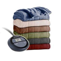 channeled velvet plush electric heated blanket k016