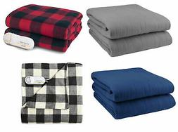 Biddeford Comfort Knit Fleece Electric Heated Warming Throw