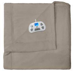 Serta Comfort Plush Electric Blanket w Digital Controller, T