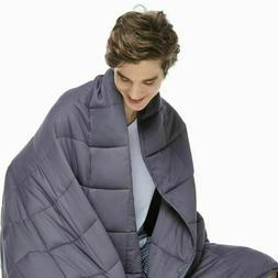 ZonLi Cool 60 x 80 inch Weighted Blanket, Queen - Dark Grey