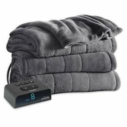 Microplush Electric Blanket Dual Control Heated Twin Full Qu