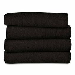 Electric Blanket Fleece Heated Throw Bedding Winter Warm Com