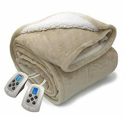 Electric Blanket MicroPlush Sherpa and Reversible Flannel Wa
