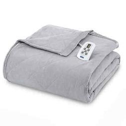 Micro Flannel Electric Heated Comforter/Blanket - Greystone