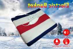 Electric Heated Flannel Blanket Warm Winter Cover Heater + C