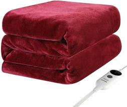 Electric Heated Plush Throw Blanket Fast Heating Pain Relief