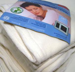 Biddeford Electric Heated Warming Micro Plush Ivory Full Bla