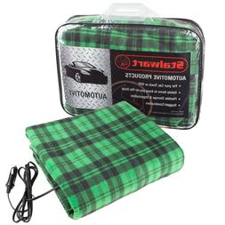 Electric Plaid Car Heated Blanket for Automobiles - Heats up