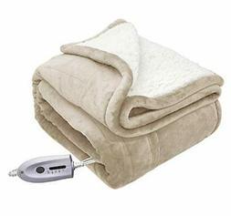 MARQUESS Electric Throw Heated Blanket Micro Plush Sherpa an