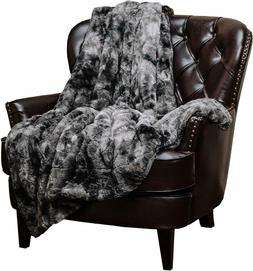 Chanasya Faux Fur Throw Blanket | Super Soft Fuzzy Light Wei