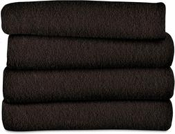 Sunbeam Fleece Electric Heated Throw Blanket, Walnut