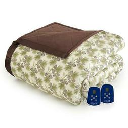 king pinecone electric heated blanket warming cozy