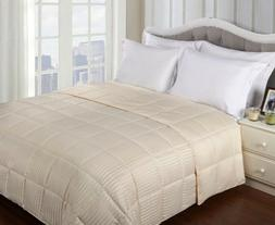 Full/Queen Ivory Reversible Polyfill Down Alternative Microf