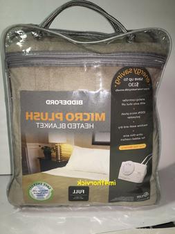 Biddeford Full Size Electric Heated Blanket Micro Plush Line