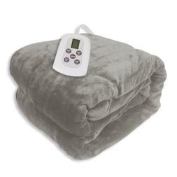 full size microplush electric heated blanket white
