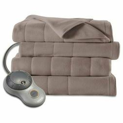Sunbeam Heated Blanket | 10 Heat Settings, Quilted Fleece, M