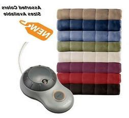 Sunbeam Heated Blanket Fleece  Electric Warming King Queen F