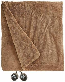 Sunbeam Heated Blanket | LoftTec, 10 Heat Settings, Mushroom