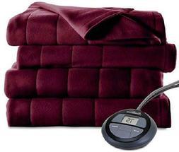 Sunbeam Heated Blanket | Microplush, 10 Heat Settings, Garne