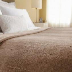 Sunbeam Heated Blanket | Velvet Plush, 10 Heat Settings, Mus