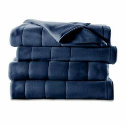 Sunbeam Heated Electric Blanket Royal Dreams Quilted Fleece