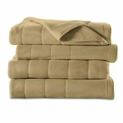 Sunbeam Heated Electric Blanket Royal Dreams Quilted Fleece