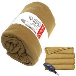 Sunbeam Heated Electric Throw Blanket Fleece Extra Soft, Aco