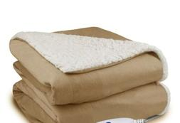 MP2 By Madison Park; Heated Electric Throw Blanket- Plush To