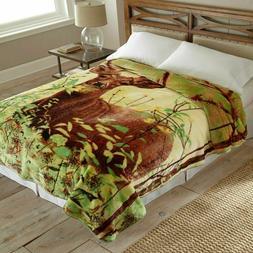Shavel Home Products Hi Pile Blanket Deer Standing
