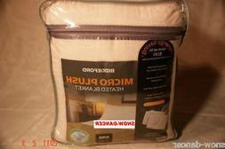 Biddeford King Size Electric Heated Blanket Micro Plush  Ivo
