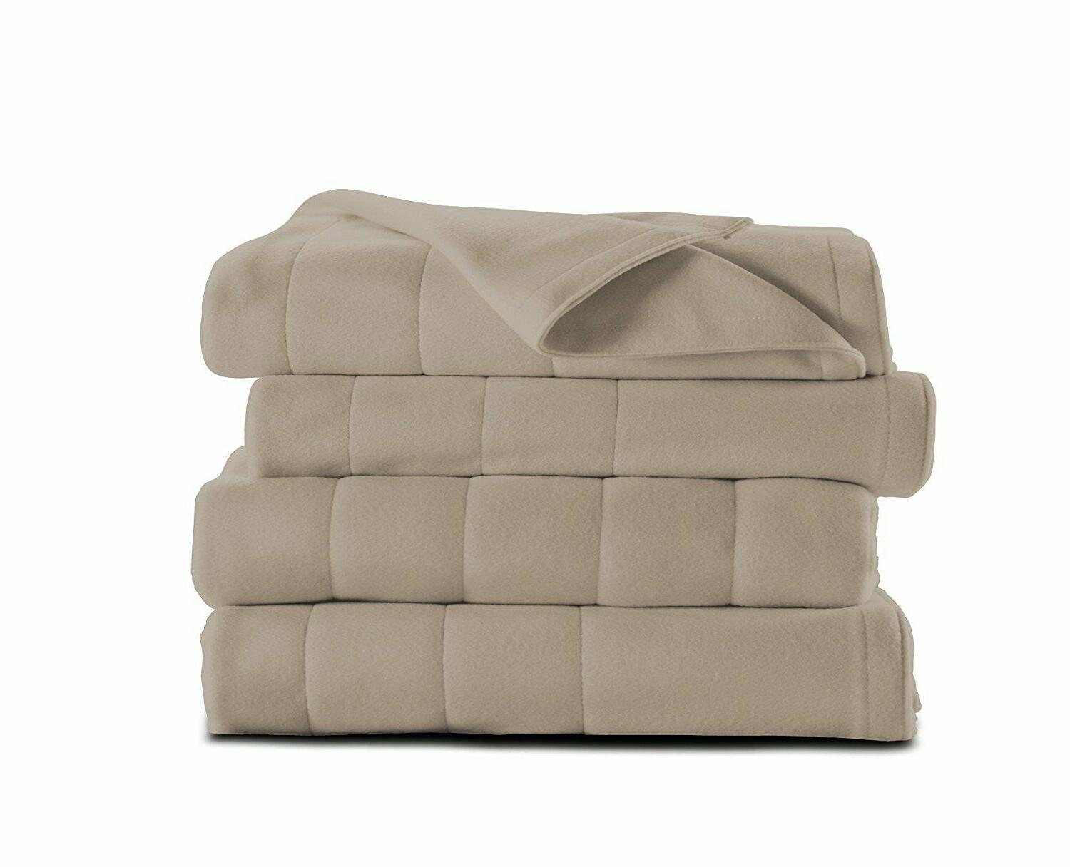 King Dual Electric Blanket Heat Settings Mushroom
