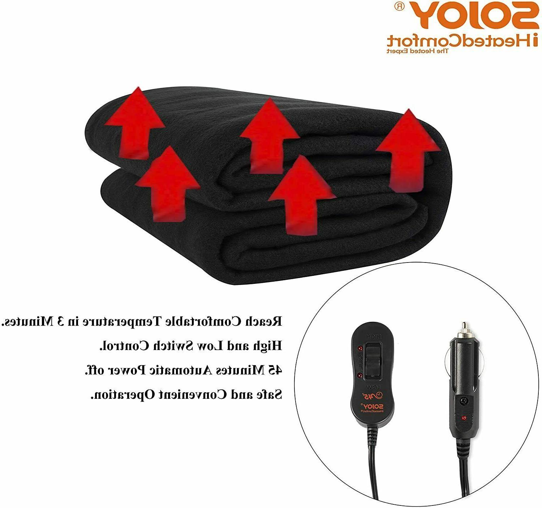Sojoy Electric Blanket Heated Car Truck Hi/Low Heat&Timer