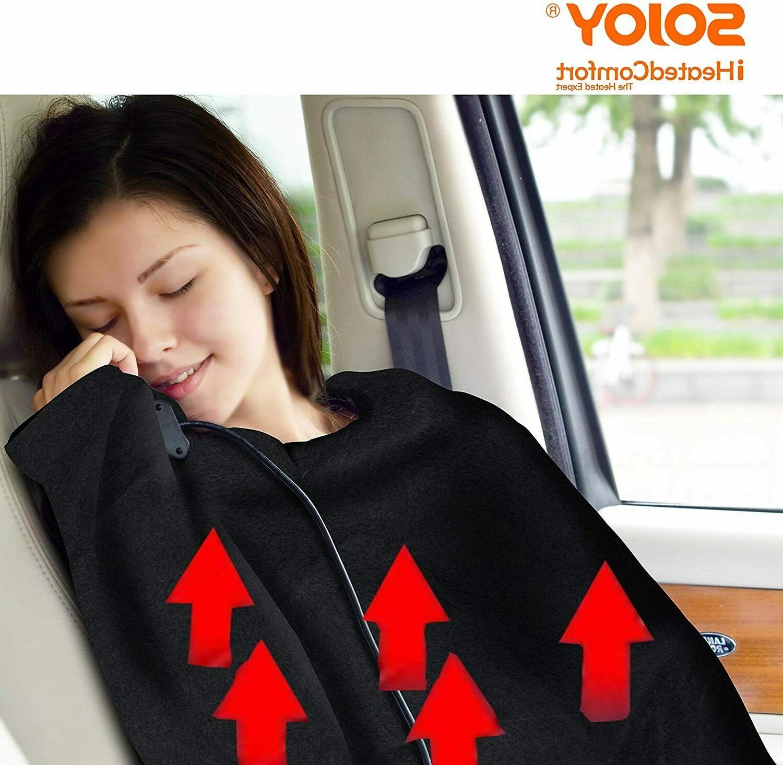 Sojoy 12V Heated Car Blanket Hi/Low