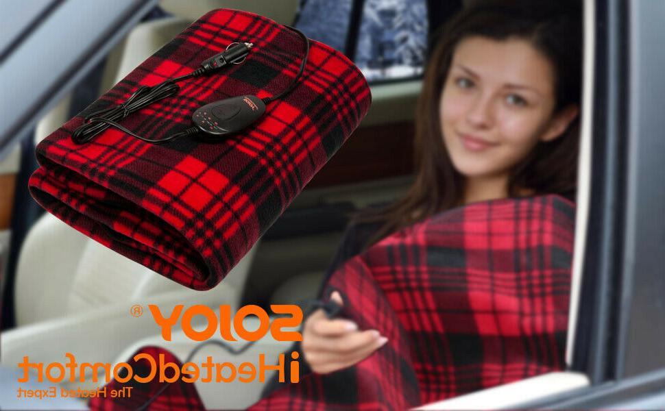 Sojoy 12V Travel Electric Blanket Car Boat Timer