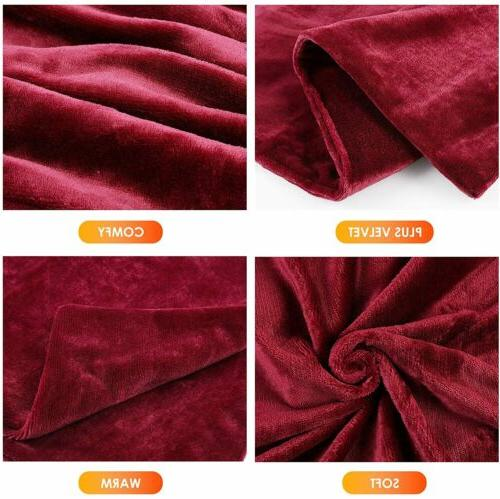 Electric Heated Plush Blanket 50x60 Inch